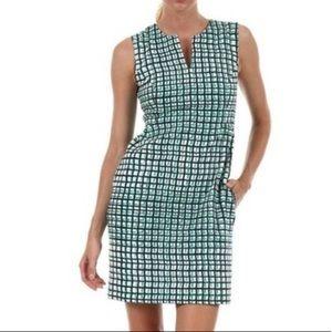 Kate Spade Samantha Checked Sheath Dress Green
